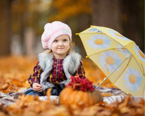 Фотосессия на природе осенью 7
