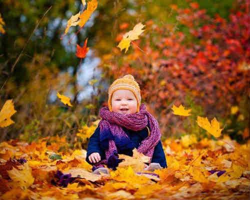 Фотосессия на природе осенью 6