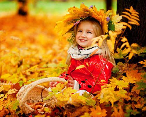Идеи для детской фотосессии осенью 10