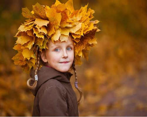 Золотая осень: детская фотосессия 9