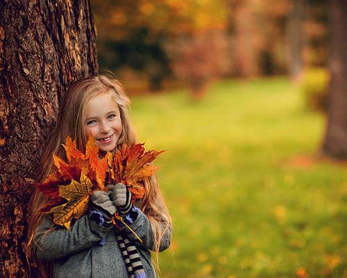 Краски осени: детская фотосессия 1