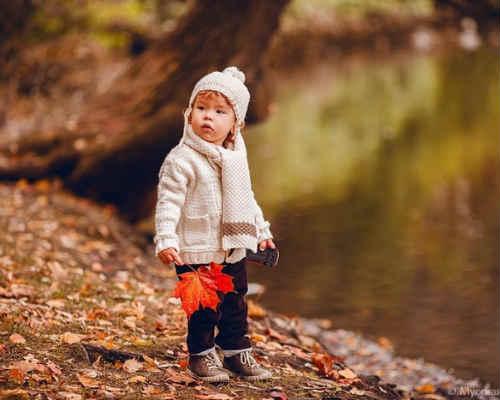Идеи для детской фотосессии осенью 8