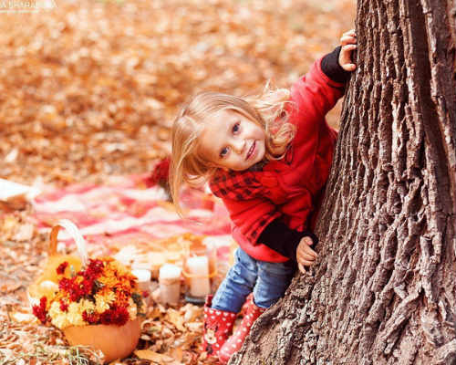 Фотосессия на природе осенью 1