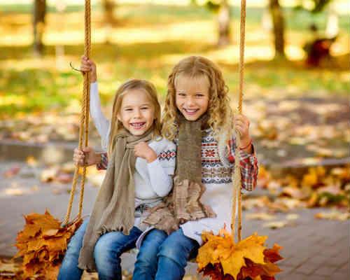 Золотая осень: детская фотосессия 10
