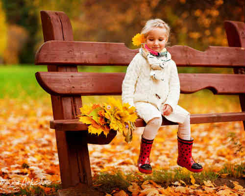 Золотая осень: детская фотосессия 3