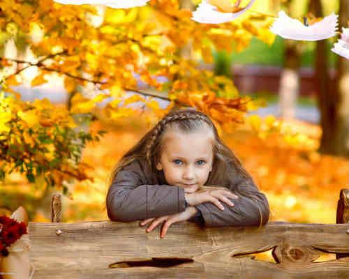 Идеи для детской фотосессии осенью 6