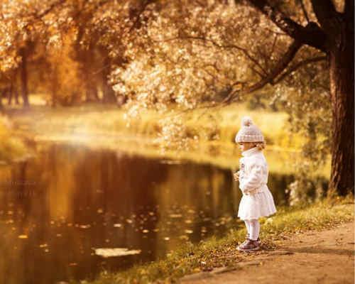 Золотая осень: детская фотосессия 8
