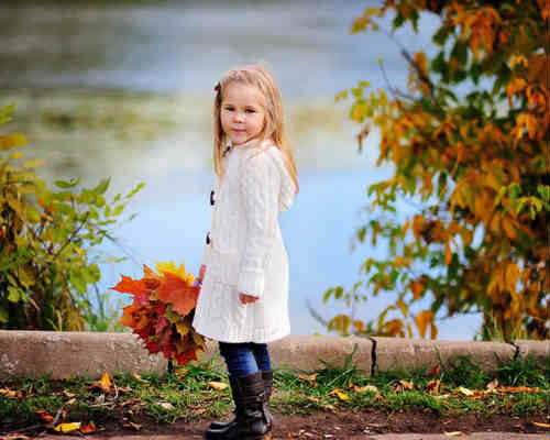 Идеи для детской фотосессии осенью 5