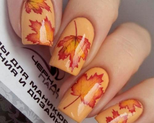 Осенний маникюр 1