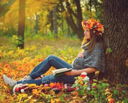 Фотосессия осенью 5