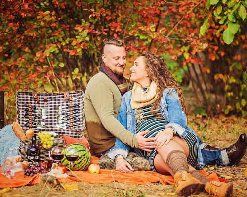 Краски осени: фотосессия для беременных 1
