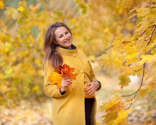 Фотосессия осенью 8