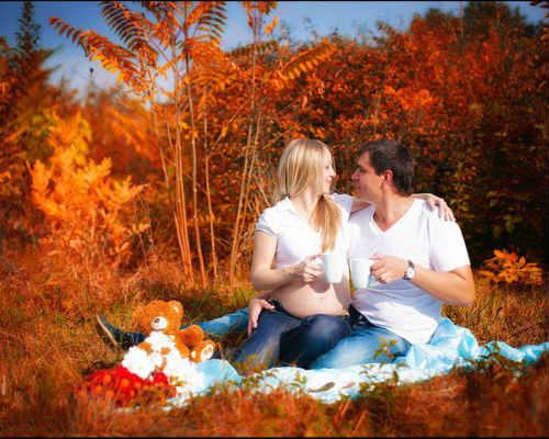 Золотая осени: фотосессия для беременных 2