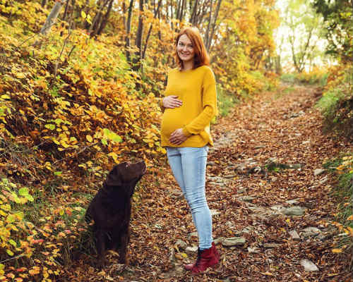Золотая осени: фотосессия для беременных 9