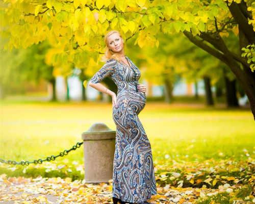 Золотая осени: фотосессия для беременных 7