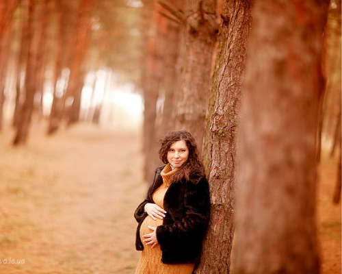 Золотая осени: фотосессия для беременных 10