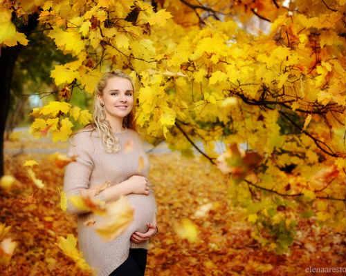 Краски осени: фотосессия для беременных 7