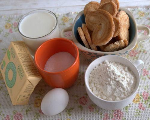 Ингредиенты для приготовления Наполеона из слоеного печенья