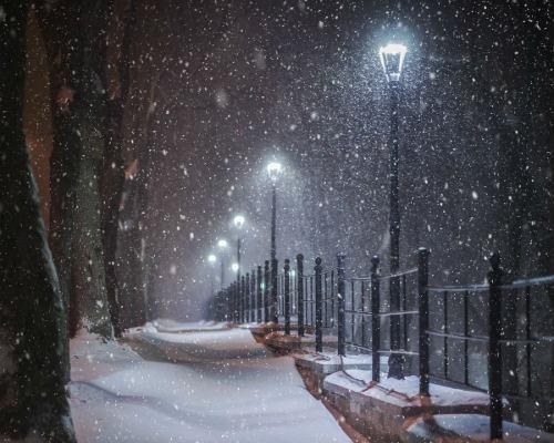 Фото фонарей зимой