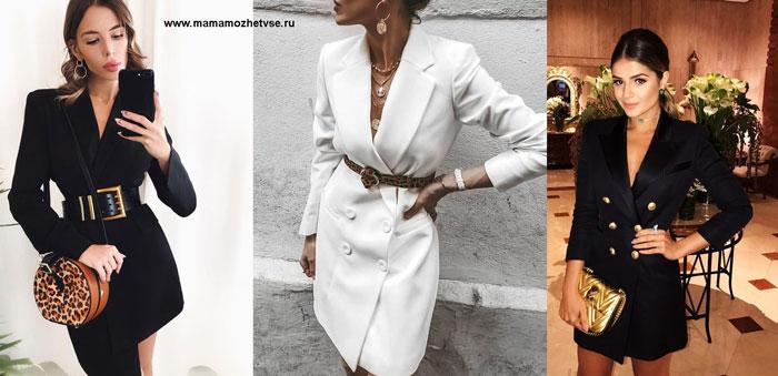 Повседневное платье - пиджак на осень и зиму 2020