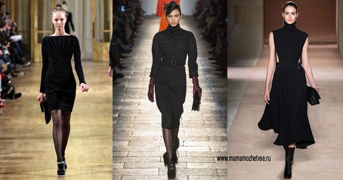 Чёрное платье на осень и зиму 3