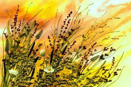 Поделкаиз листьев и травы