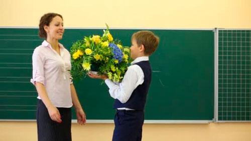 Поздравления с днем учителя в стихах для детей