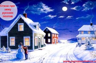 Стихи про зиму русских поэтов