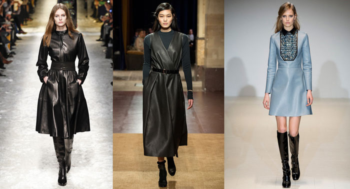 Повседневные платья из кожи на осень и зиму 3