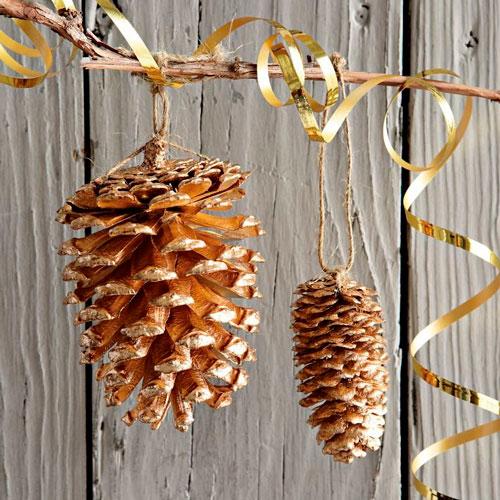 декор для ёлки из шишек