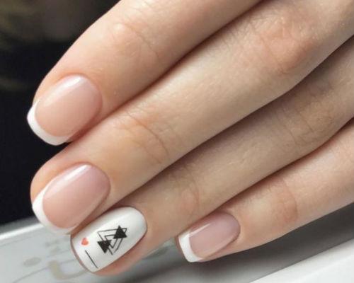 Ногти покрытые гель - лаком для школьниц 1