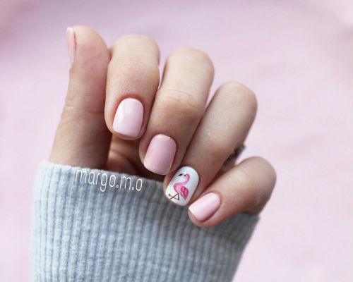 Ногти покрытые гель - лаком для школьниц 5