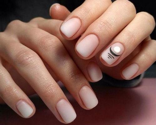 Ногти покрытые гель - лаком для школьниц 7