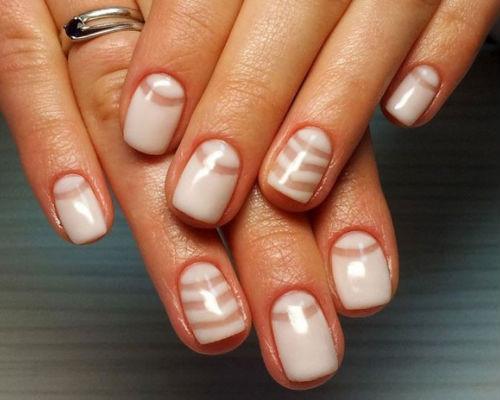 Ногти покрытые гель - лаком для школьниц 8