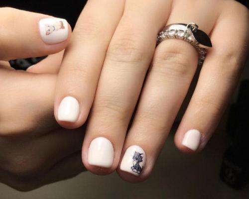 Ногти покрытые гель - лаком для школьниц 9