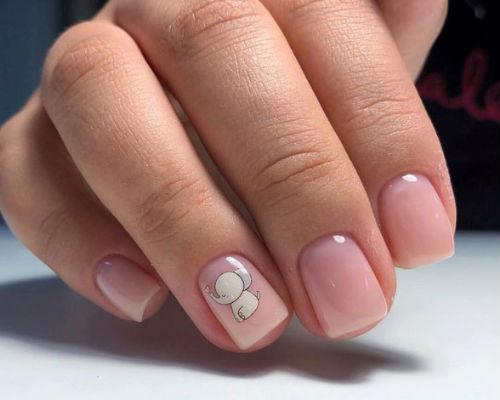 Ногти покрытые гель - лаком для школьниц 10
