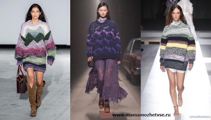 Модные фасоны свитера и джемпера в 2019 - 2020 году 4