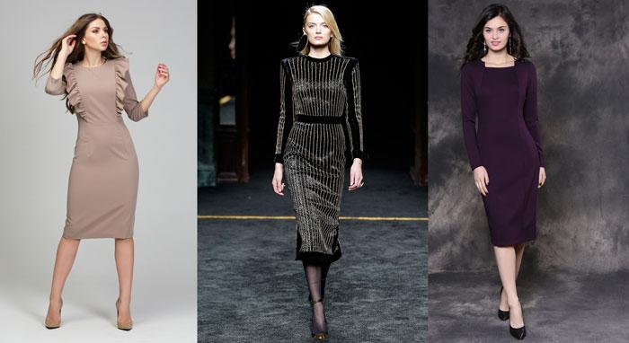 платье - футляр на осень и зиму 2020