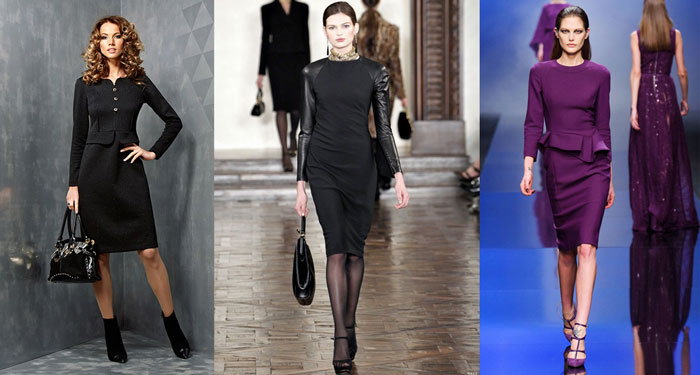 платье - футляр на осень и зиму 2019-2020