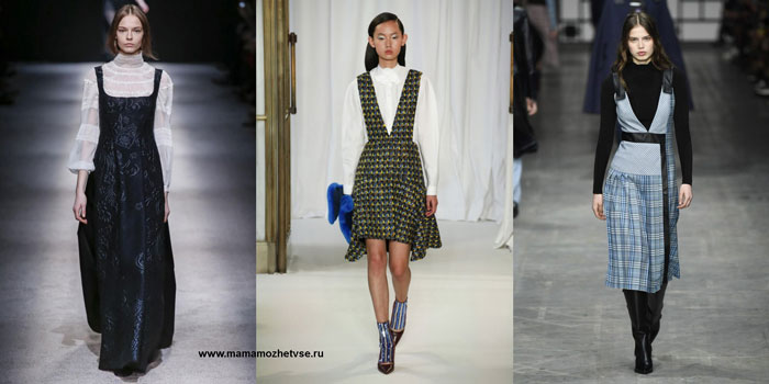 платья - сарафаны на осень и зиму