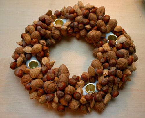 декор из грецкого ореха