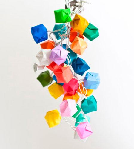 Гирлянда из бумаги: шарики