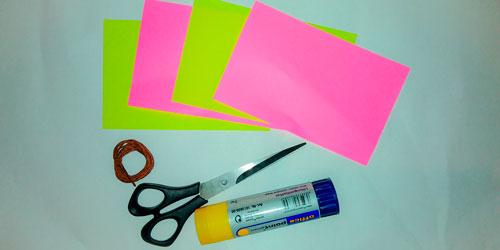 Идея гирлянды из бумаги для Нового года