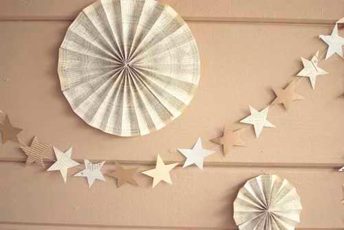 Гирлянда из бумаги: звёздочки