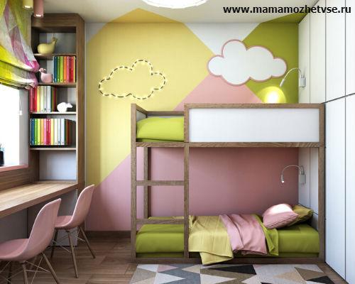Зона отдыха в детской комнате 1