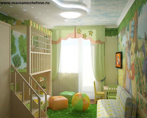 Зона отдыха в детской комнате 2