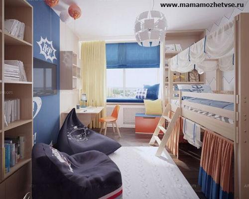 Зона отдыха в детской комнате 3