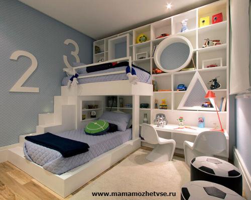Зона отдыха в детской комнате 4