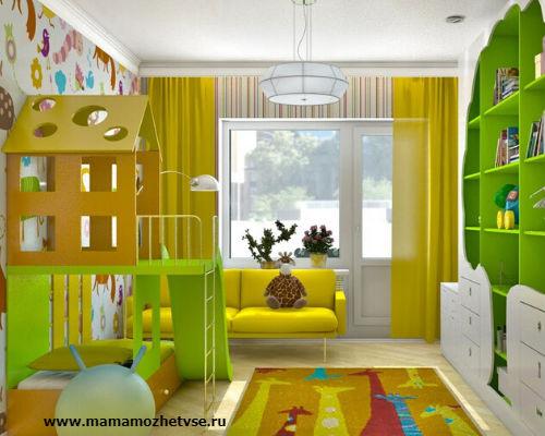 Зона отдыха в детской комнате 5