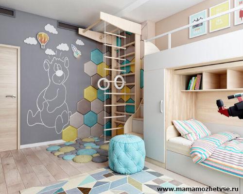 Зона отдыха в детской комнате 9